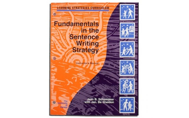 FUNDAMENTALS IN THE SENTENCE WRITING STRATEGY INSTRUCTOR'S MANUAL (Jean B. Schumaker with Jan B. Sheldon) (Softcover)