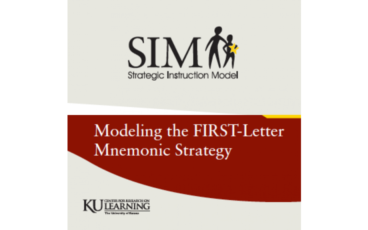 MODELING THE FIRST-LETTER MNEMONIC STRATEGY (1989)  (Video Download)