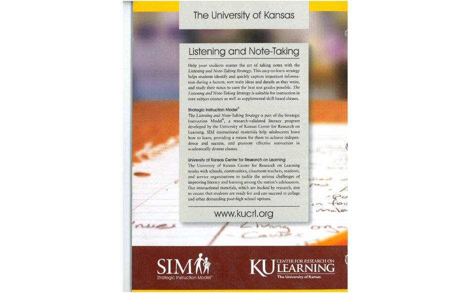 Listening And Note Taking Strategy