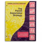 THE PAIRED ASSOCIATES STRATEGY  (Janis A. Bulgren, Jean B. Schumaker) (Softcover)