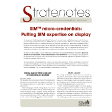 Micro-Credential Stratenotes, V23, I8, July 2015
