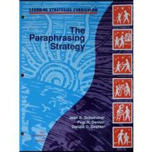 THE PARAPHRASING STRATEGY (Jean B. Schumaker, Pegi H. Denton, Donald D. Deshler) (Softcover)